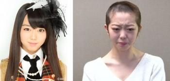 Mii-chan d'AKB48 se rase la tête par honte