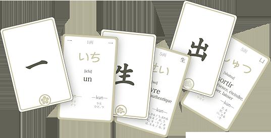 Apprendre les Kanjis japonais avec des flashcards !